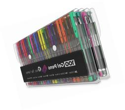 100 gel pen set with case
