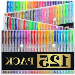 100 Gel Pens Set Pen Glitter Neon Metallic Color Art Colorin