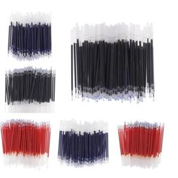 100pc 0.5mm Needle Tip/Bullet Gel Ink Pen Refills Office Sta