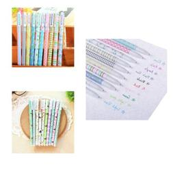 10pcs/lot Cute Colorful Office School Supplies Gel Pens 0.5m
