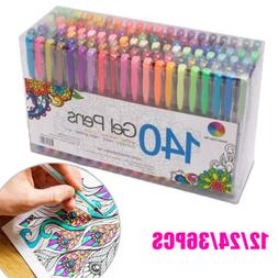 12/24/36 Pcs Colorful Gel Pen Refills Set for School Sketch