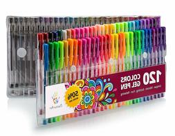 Positive Art 120 Colors  Gel Pens Set  #1 Pens For Adult Col
