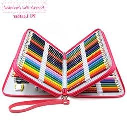 YOUSHARES 120 Slots Pencil Case - PU Leather Handy Large Mul