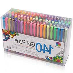 Smart Color Art 140 Colors Gel Pens Set Gel Pen For Adult Co