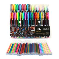 18/36/48pcs Color Gel Pen Neon Pastel Glitter Ink Pens Art P