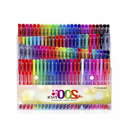 Reaeon 200 Gel Pens Coloring Set 100 Gel Pen plus Refills fo