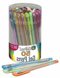 24 Gel Pens Reffils Set Glitter Pastel Neon Colors Kids Adul