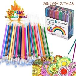 24 Colors Gel Pens Glitter Coloring Drawing Painting Craft M