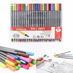 24 Colors Marker Pens Sketch Ink Fine Liner Gel Pen Art Draw
