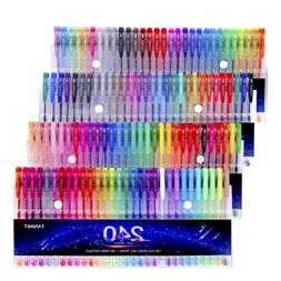 Tanmit 240 Gel Pens Set 120 Colored Pen plus Refills for Adu