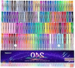 240 Gel Pens Set 120 Colored Pen Plus Refills For Adults Col