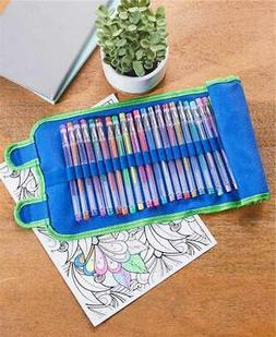 30-PIECE GEL INK PEN WRITE AND DRAW ARTIST SET in ROLL UP CA