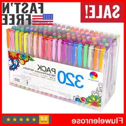 320 Colors Gel Pens Set for Adult Coloring Books Drawing Pai