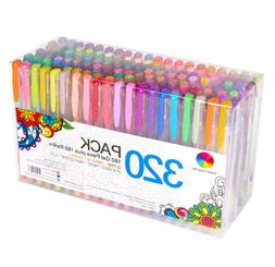 320 Pack Gel Pens Set, Smart Color Art 160 Colors Gel Pen wi