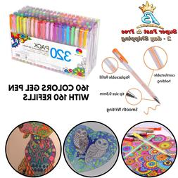 320 Pack Gel Pens Set Adult Coloring Books Drawing Painting