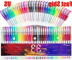 33 Neon Glitter Color Gel Pens Art Markers 40% More Ink for