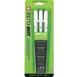 Sakura 37488 Gelly Roll Classic 08  3PK Pen, White