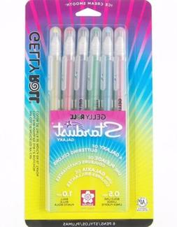 Sakura 37903 6-Piece Gelly Roll Assorted Colors Stardust Gal