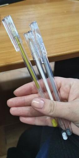 3PCS Premium White Gel Pen Set 0.6mm Fine Tip Sketching Blac