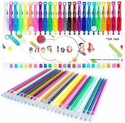 48 Gel Pens Set For Kids Adult Coloring Books Drawing Colore