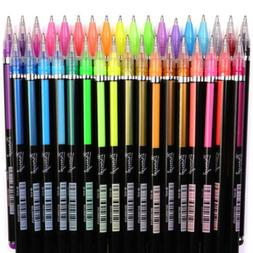 48Colors Gel Ink Pens Set Student Marker Pens Refillable Cal