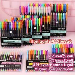 48Pcs Gel Pen Set Metallic Pastel Glitter Neon Gel Pens DIY