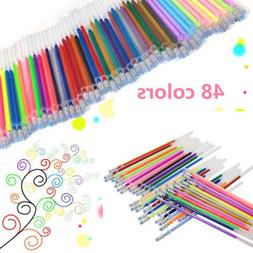 48pcs Gel Pens Gel Pastel Glitter Pen Adults Drawing Paintin