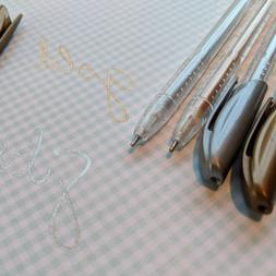 4x Metallic Gold and Silver Pens Gel Glitter cards notes fun