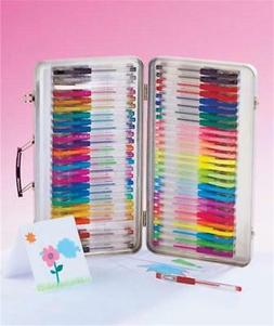 52-PIECE GEL INK PEN WRITE AND DRAW ARTIST SET WITH METAL CA