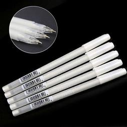 5pcs/set White Gel Ink Pen Artist Fine Tip Sketching Drawing