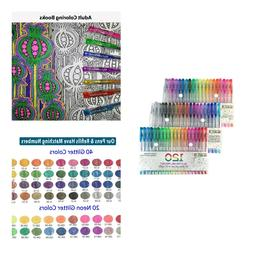 60 Color Glitter Gel Pens 60 Refills Marker Coloring Drawing