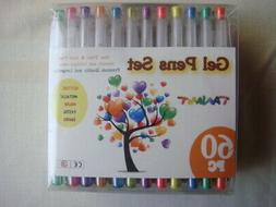 60 Piece TANMIT Gel Pens Set for Sketching and Drawing