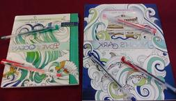 Adult/child 7 Pc. Coloring Bk. & Journal Gift Set- Noah's Ar
