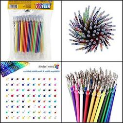 Artlicious - ULTIMATE 100 Unique Gel Pen Refills- Non Toxic