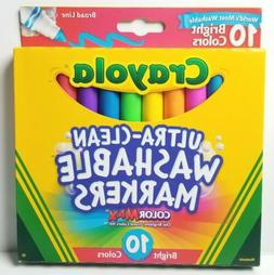 Crayola 10 Count Ultraclean Broadline Bright Markers