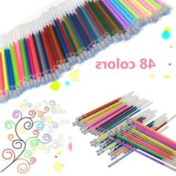 48pcs Gel Pen Glitter Scrapbooking Ink Pens Adult Drawing Pa