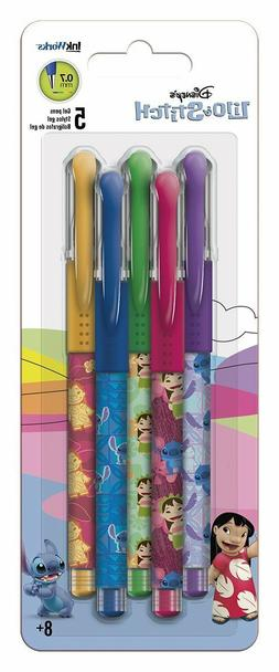 LILO AND STITCH - COLORED GEL PENS 5 PACK - BRAND NEW - MOVI