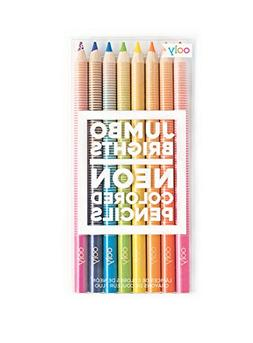 OOLY,  Jumbo Brights Neon Colored Pencils, Set of 8