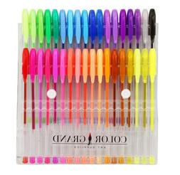 Art School Gel Pens 36 Gel Pen Set and Glitter Gel Pens for