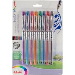 Pentel Arts Slicci 0.25 mm Extra Fine Gel Pen, Assorted Ink,