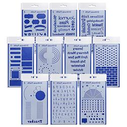 Bullet Journal Stencil Set of 10 Stencils for Your Bible Jou