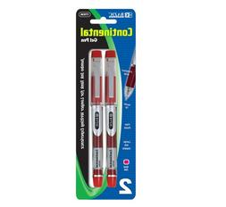 BAZIC Continental Red Jumbo Ink Tank Needle-Tip Gel Ink Pen