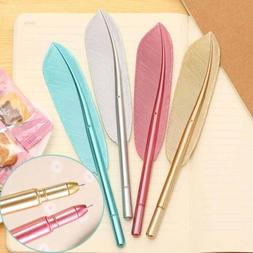 Cute Feather Gel Pens Office School Students Writing Station