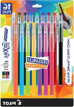 PILOT FriXion Gel Ink Pens, Fine Point  16 Assorted Colors,