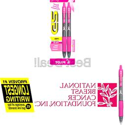 Pilot G2 Breast Cancer Awareness Pink Pens with Pink Ink Ret