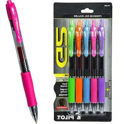Pilot G2 Pen 0.7mm Gel Ink Rolling Ball, Assorted Color 5-Pa