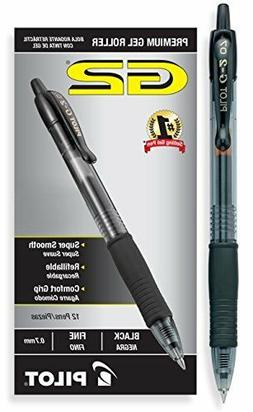 Pilot G2 Retractable Premium Gel Ink Roller Ball Pens, Fine