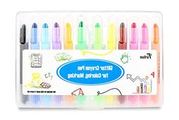 Gel Crayons Firbon Safe Highlighter Set for Kids and Adults