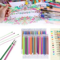 Gel Ink Pen Refills Glitter Color Drawing Stationery Office