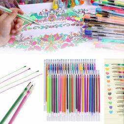 Gel Pen Craft Refills Drawing Coloring Stationery Glitter Ma